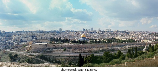 The city of old Jerusalem, Israel. The holly city for the three religions.
