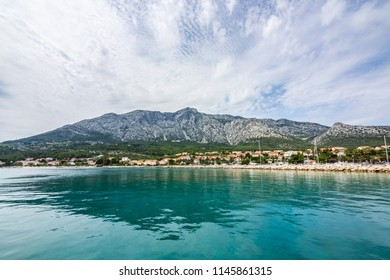 City of Orebic on Peljesac peninsula in summer, Croatia