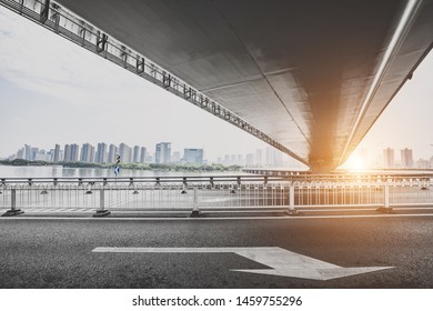 City overpass in the morning
