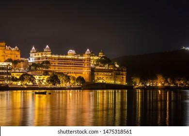 City Palace, Udaipur during Diwali