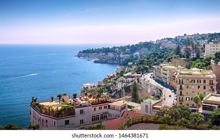 City panorama of the coastal part of the city. Naples. Campaign. Italy.