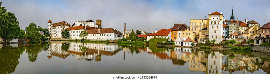 City panorama of Jundrichuv Hradec, a city with castle complex in South Bohemia, Czech Republic - Shutterstock ID 1953264994