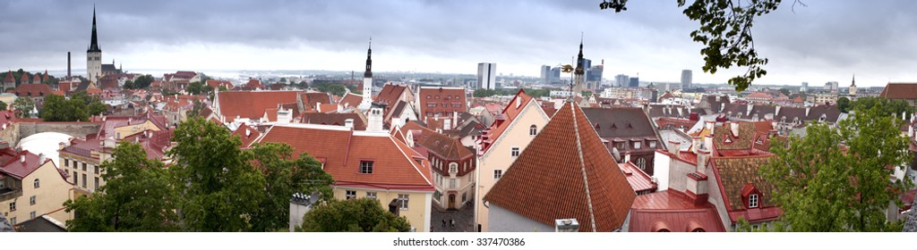City panorama from an observation deck. Tallinn. Estonia.