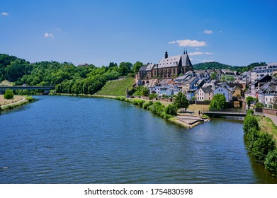 city panorama of Saarburg in Germany