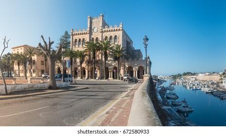 City panoramic view in Ciutadella, Menorca. Spain