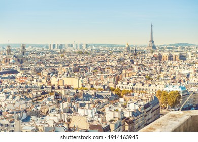 City of Paris cityscape with Eiffel tower and city view