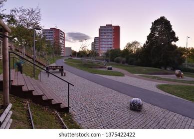 An city park.