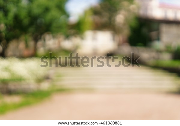 city park blurred background for your project