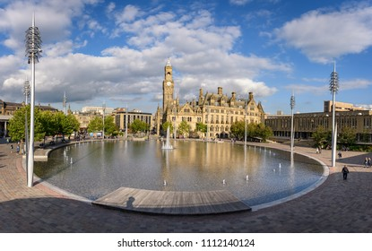 City Park Bradford and the town hall building.