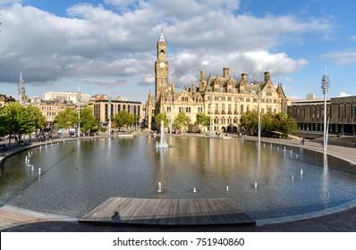 City Park Mirror Pool in Bradford, West Yorkshire