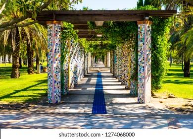 City park - Parco del Mercatello - in  Salerno city in Italy