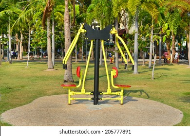 City Park, sports ground in the open air, gyms in the trees
