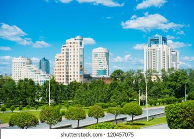 City park in Yekaterinburg, Russia