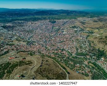 City of Pergamon, Turkey, Aerial panoramic view