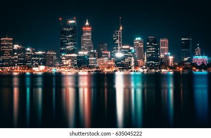 City of Perth at night