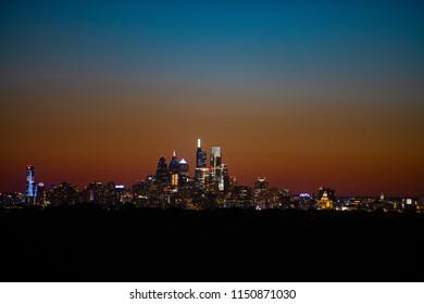 City of Philadelphia After Sunset