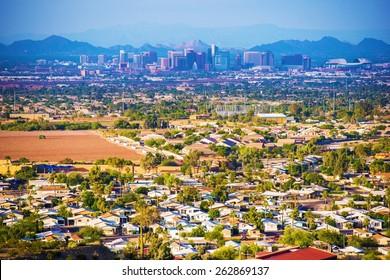 City of Phoenix Panorama. Phoenix, Arizona, United States.