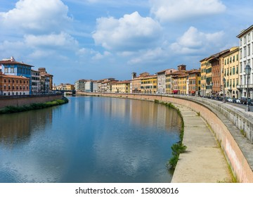 The city of Pisa, Italy - By the river