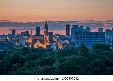 The city of Łódź, Poland