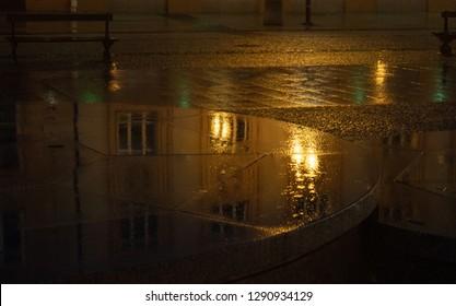 Białystok city in Poland on the night