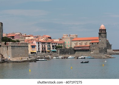City and port of Collioure in Pyrenees orientales, France