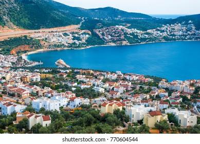 city and port of Kalkan on the Mediterranean coast of Turkey, province of Antalya.