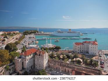 City and port on Mediterranean Sea. Split, Croatia