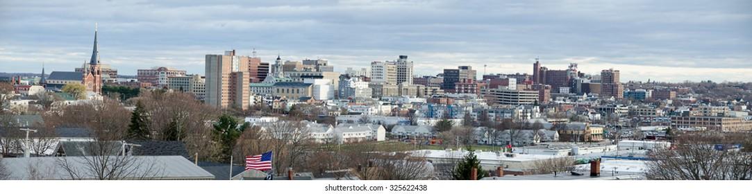 City of Portland, Maine Skyline Panorama