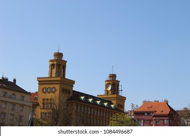 city of prague streets in spring