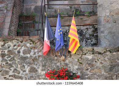 City of Prats de Mollo La Prest, historic village in France - Shutterstock ID 1159645408