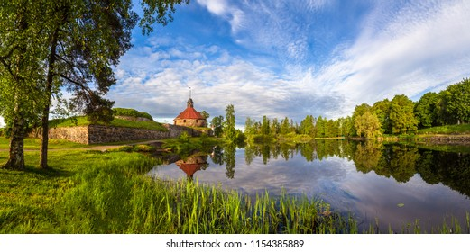 The city of Priozersk. Russia. Museums of Karelia. Karelia. The fortress in Karelia. Panorama of Priozersk. Cities of Russia. Korela fortress museum