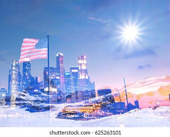 A city of prosperity amidst an iceberg in Switzerland With the help of the United States.