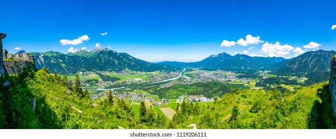 The city of Reutte in Tyrol
