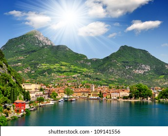 the city of Riva del Garda, situated in the northern part of the largest Italian lake, Lago di Garda