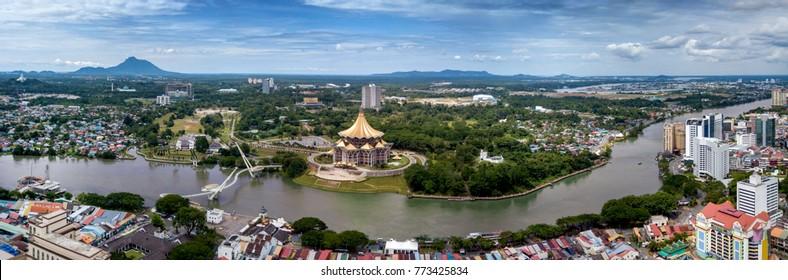 City and river view of Kuching city of Sarawak, East Malaysia - Shutterstock ID 773425834