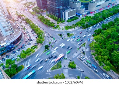 The city road, the busy night scene?Traffic junctions, modern city