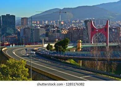 City road crossing the bridge