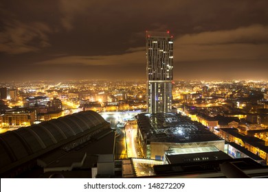 city roof top view, manchester
