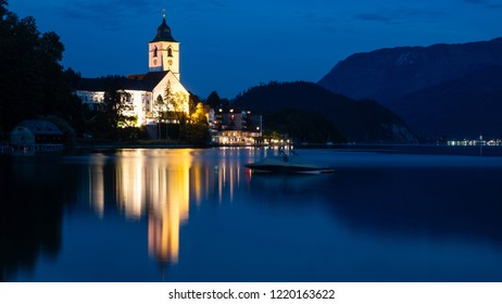 City of Saint Wolfgang near Salzburg in Austria