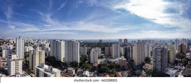 City Sao Jose dos Campos, Brazil, in the afternoon with clody sky  panorama photo