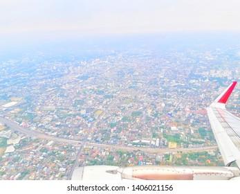 the city scape in bird eye view - Shutterstock ID 1406021156