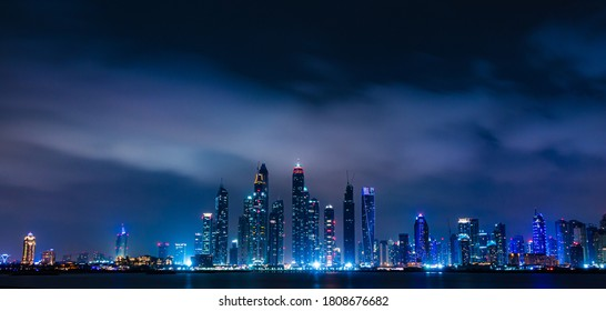 City scape of Jumeirah in night