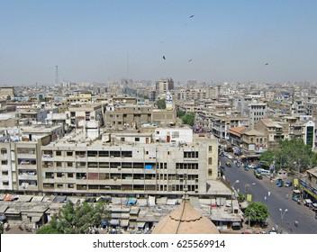 City scape of Karachi, Pakistan - 07/05/2009