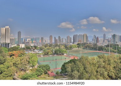city scape of Middle kowloon at kowloon tong