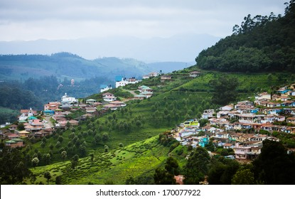 City scape on Nilgiri mountains at Udhagamandalam / Udhagai / Ooty, Nilgiris, Tamil Nadu, India