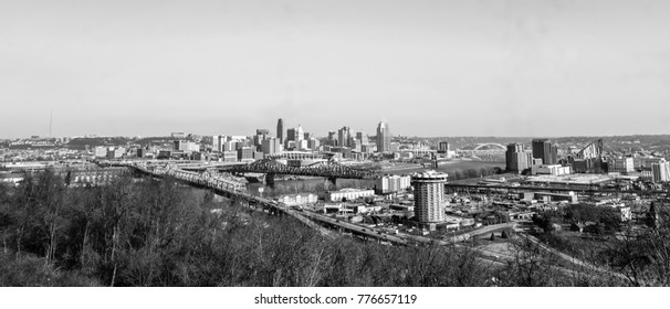 City scape photography-Cincinnati from Northern Kentucky. photography art.