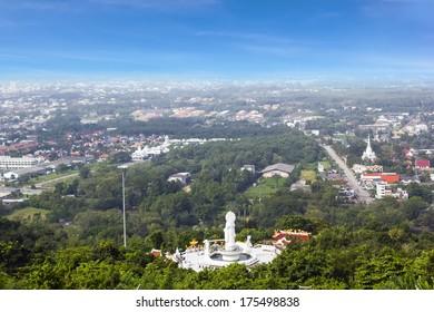 City scenery from Hat Yai public park view