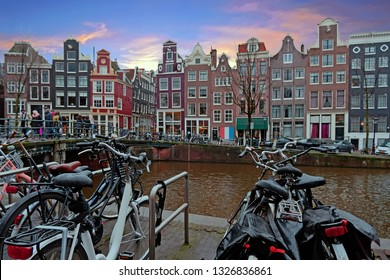 City scenic from Amsterdam in the Netherlands