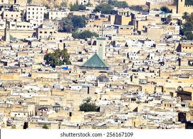 City scenic from Fes in Morocco Africa