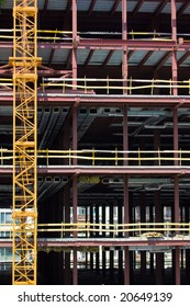 city series: new modern building under construction